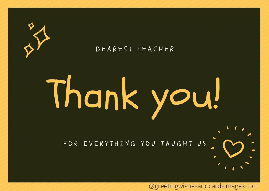 Advance Teachers Day Wishing Cards