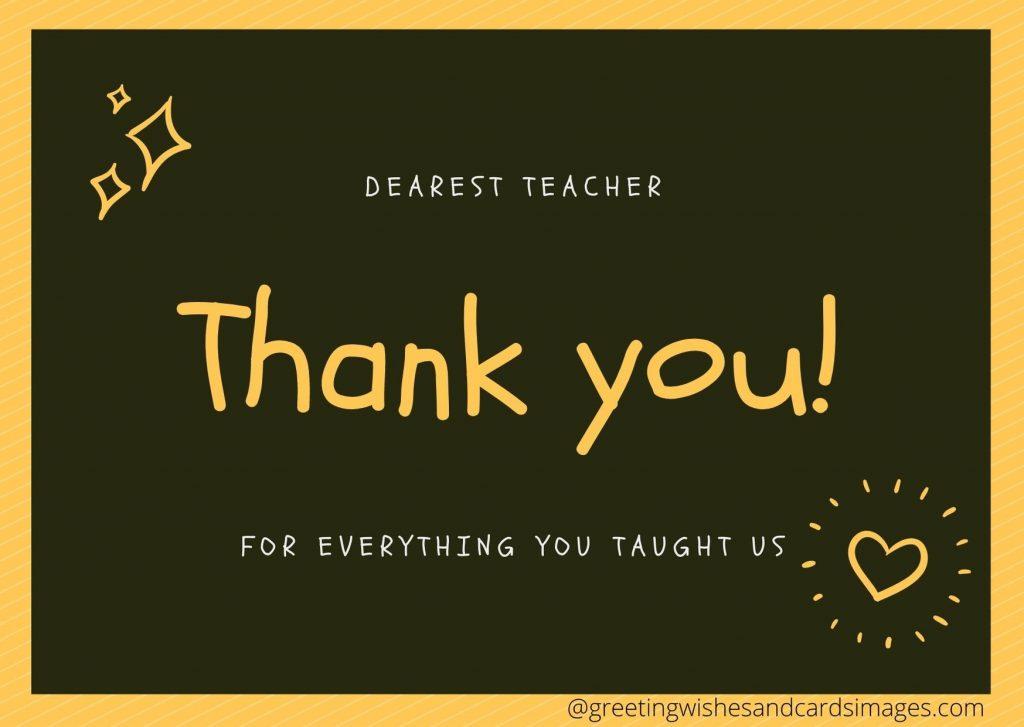 Advance Teachers Day Wishing Cards