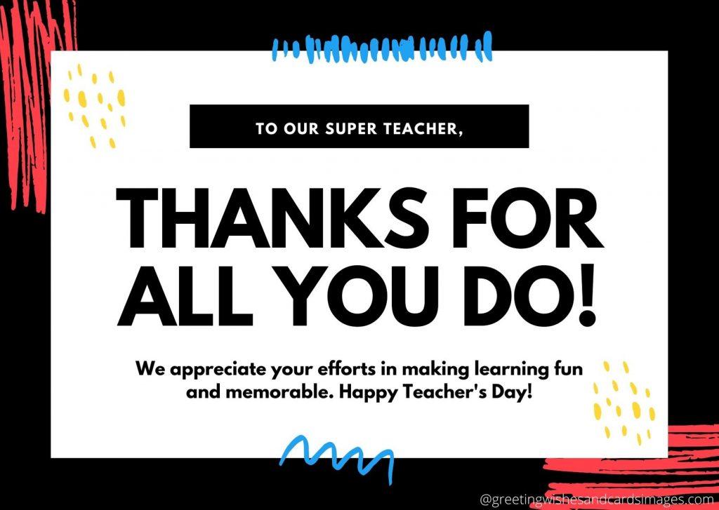 Teachers Day Cards 2020