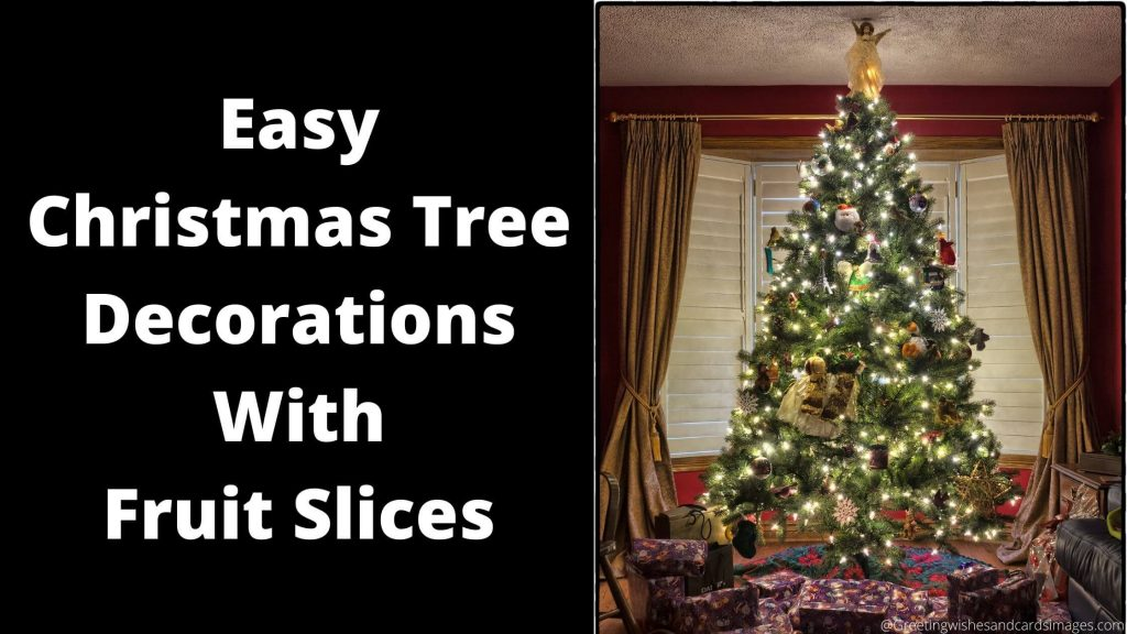 Easy Christmas Tree Decorations With Fruit Slices