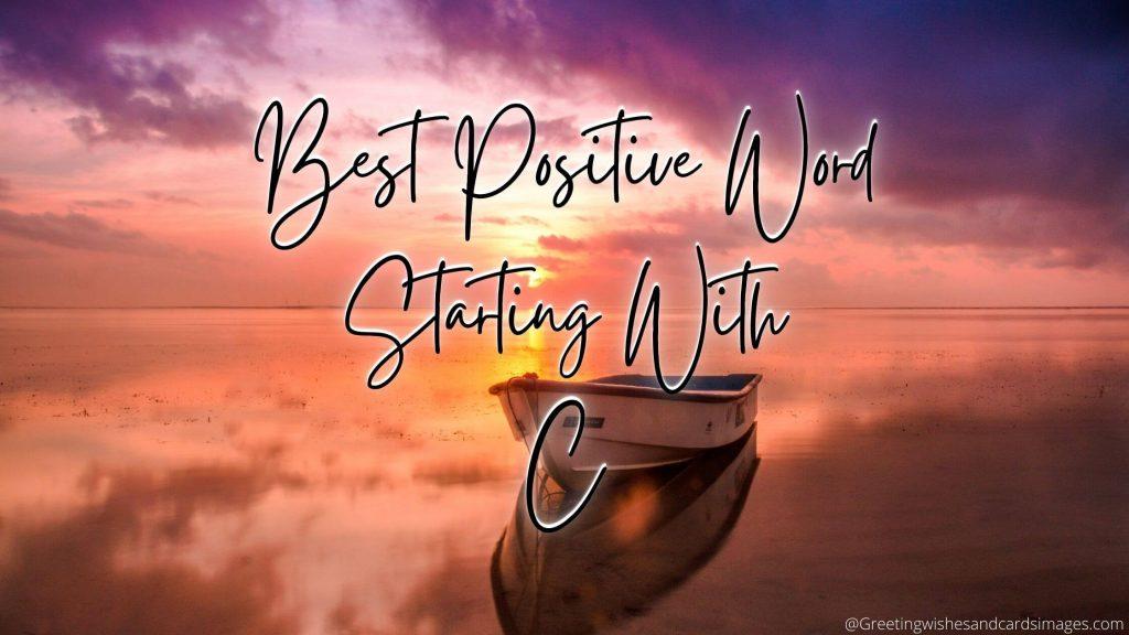 Best Positive Words 2021