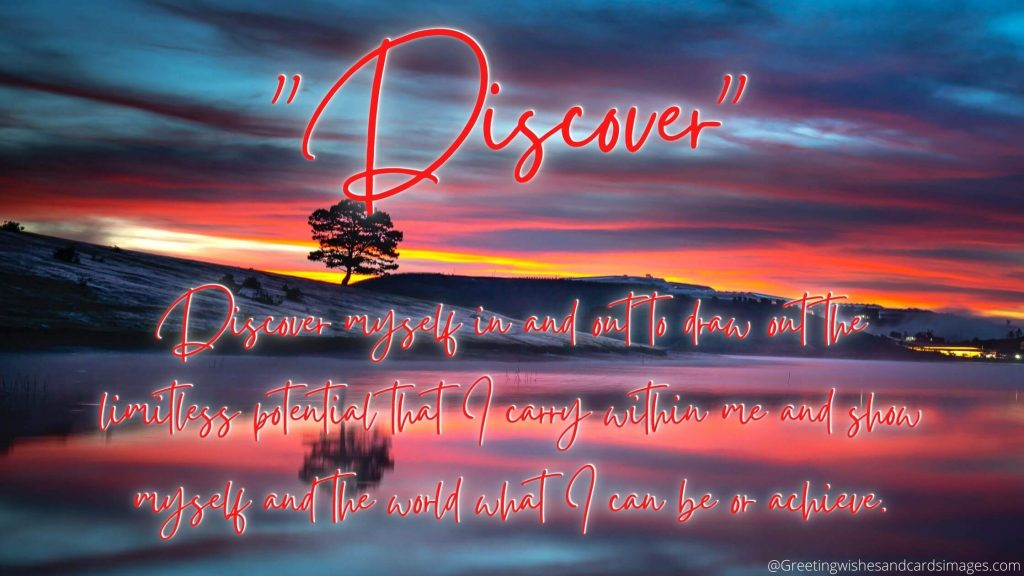 """Discover"" As New Year's Resolution 2021"