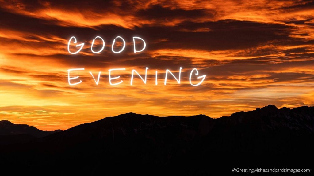 Meaning of Good Evening