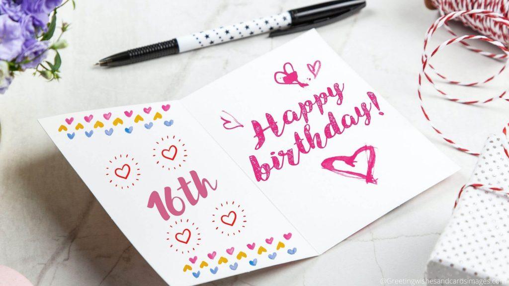 Happy 16th Birthday Cards