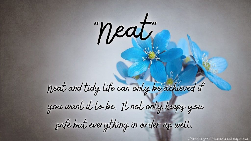 Neat And Tidy Life Makes You Healthy