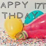 17th Happy Birthday Text