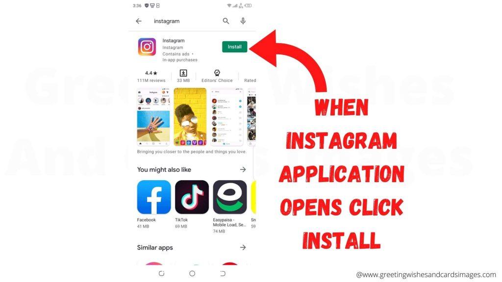 Instagram Installation On Mobile